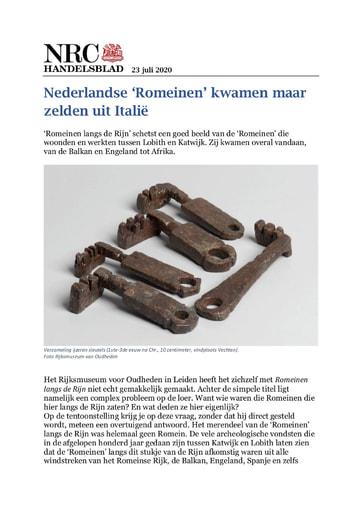 Nederlandse 'Romeinen' kwamen maar zelden uit Italië