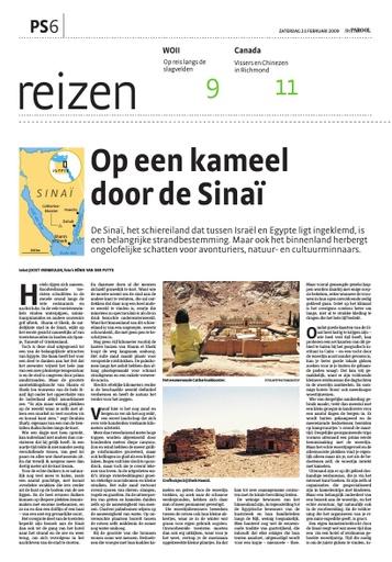 Per kameel door de Sinaï