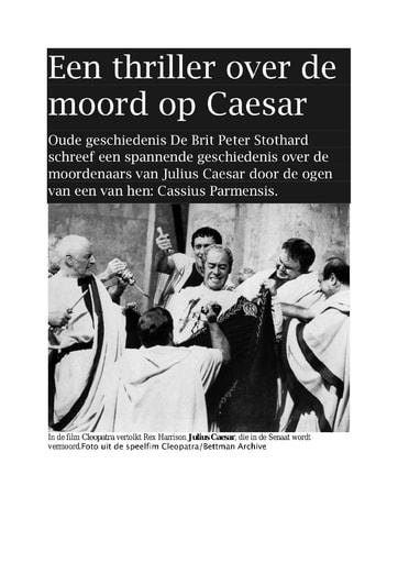 Recensie julius ceasar