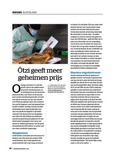 Ötzi geeft meer geheimen prijs
