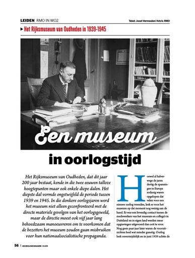 Een museum in oorlogstijd
