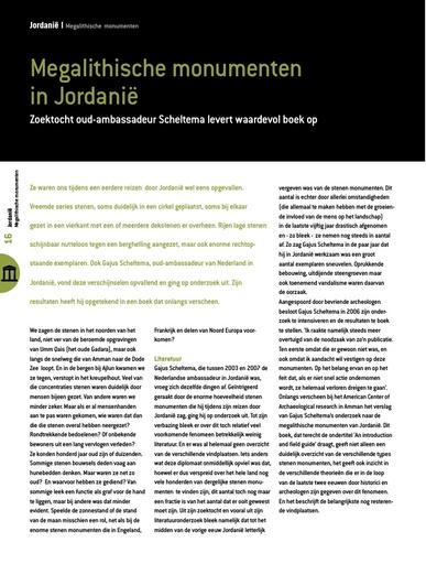 Megalithische monumenten in Jordanië