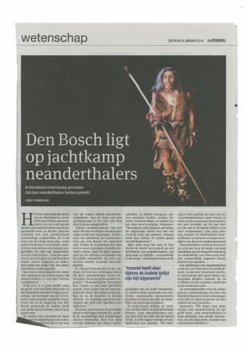 Den Bosch ligt op jachtkamp neanderhalers
