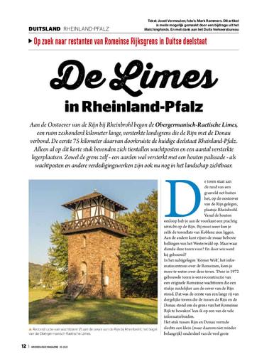 De limes in Rheinland Pfalz