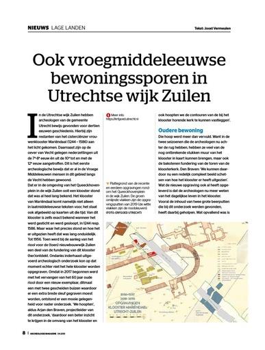 vroegmiddeleeuwse bewoningssporen in Zuilen
