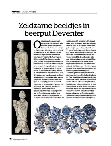 Zeldzame beeldjes in beerput Deventer