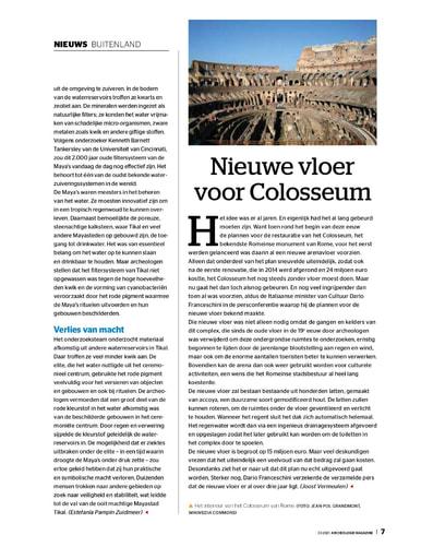 Nieuwe vloer Colosseum