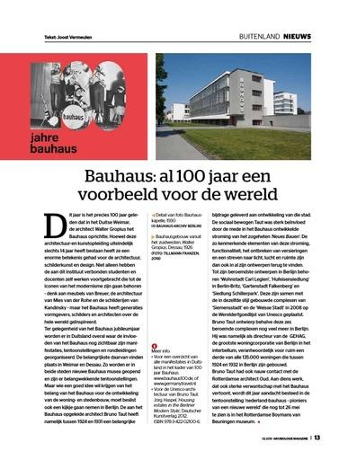 Bauhaus: al 100 jaar een voorbeeld voor de wereld