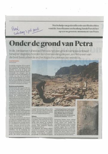 Onder de grond van Petra