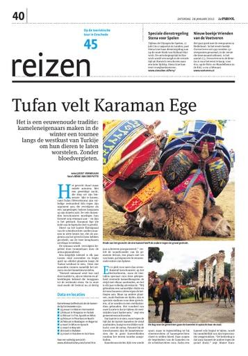 kamelen worstelen in Turkije