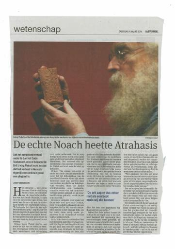 De echte Noah heette Artrahsis