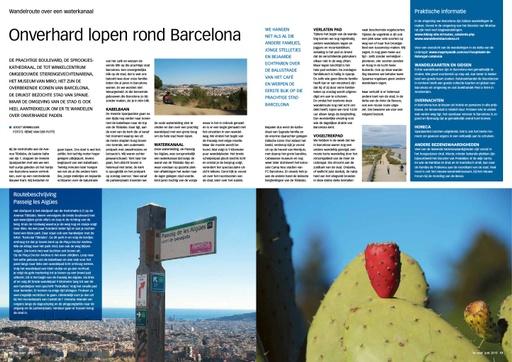 Onverhard wandelen rond Barcelona