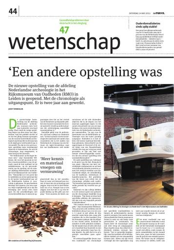 Een nieuwe opstelling in het RMO Leiden