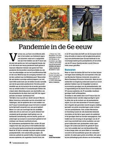 Pandemie 6e eeuw