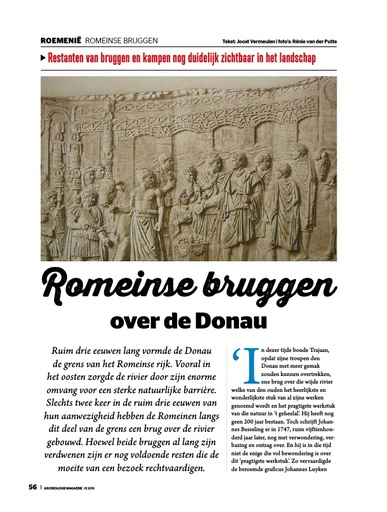 Romeinse bruggen over de Donau