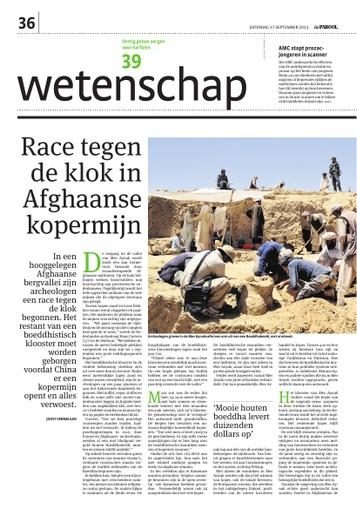 Race tegen de klok in Afghaanse kopermijn