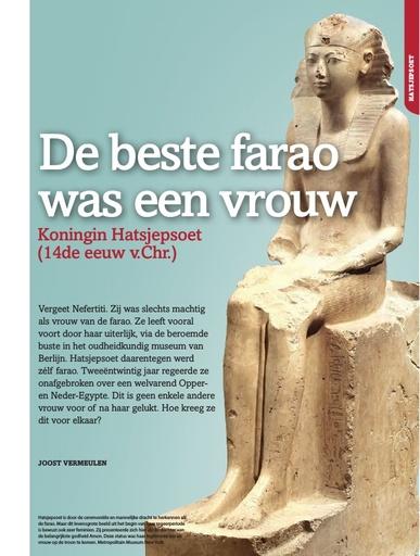 De beste farao was een vrouw