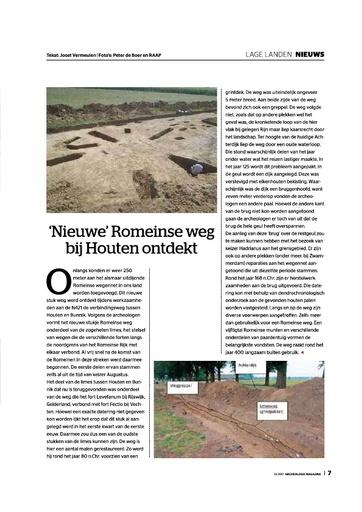 Nieuwe Romeinse weg bij Houten