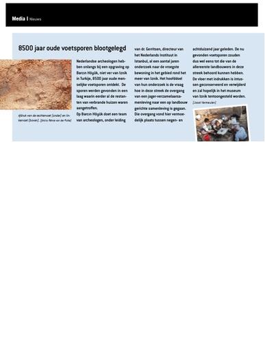 8500 jaar oude voetsporen blootgelegd